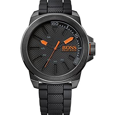 Boss Orange men's Quartz Watch Analogue Display and Silicone Strap 1513004