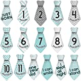 Original Stick'Nsnap (TM) 16 Baby Monthly Necktie Onesie Stickers -