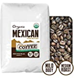 Mexican Chiapas Organic Coffee Coffee, Whole Bean, Fresh Roasted Coffee LLC (5 lb.)