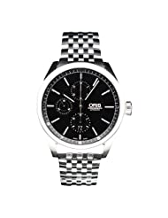 Oris Men's 67476444054-0782280 Stainless Steel with Black Dial Watch