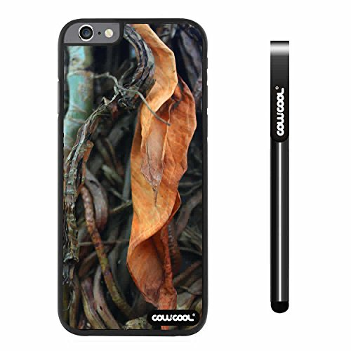 CowCool® Apple Iphone 6 Plus 5.5 Inch Case Hard PC leaves Straw Grass Mossy Camo weed Black Shell Single Layer Protective Case (#9)