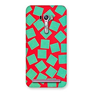 Cute Green Red Print Back Case Cover for Zenfone Selfie