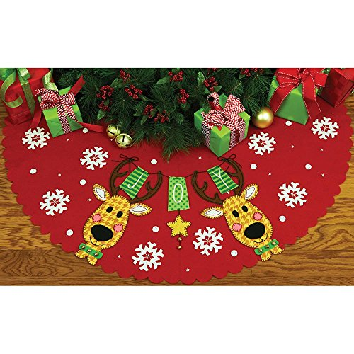 Dimensions Felt Kit - Reindeer Joy Tree Skirt Christmas dimensions скалистый берег москва
