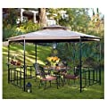 Two-Tiered Hexagon Bar Gazebo Replacement Canopy - RipLock 350 from Garden Winds
