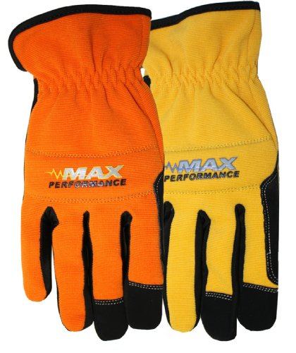 Midwest Gloves and Gear MX450P02-L-AZ-6 2-Pack Max Performance Gloves, Large