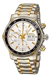 Ebel Men's 1750L62/63B60 1911 Discovery Silver Chronograph Dial Watch by Ebel