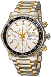 Ebel Men's 1750L62/63B60 1911 Discovery Silver Chronograph Dial Watch