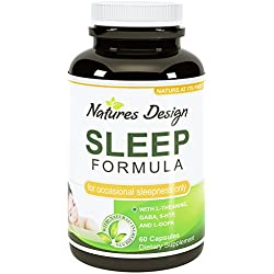 Best Natural Revitalizing Sleep Formula Supplement - End Fatigue With Pure Melatonin - Safe and Potent Magnesium (Oxide/Citrate) - Support Sleep with GABA (gamma-Aminobutyric Acid) - Sleep Deep with Phellodendron Root (Herb Powder) - Premium Quality L-Thanine Included - Pharmaceutical Grade Mucuna Pruriens (15% Extract) - Maximum Strength 5-HTP - Quality Pill Fully Guaranteed by Natures Design