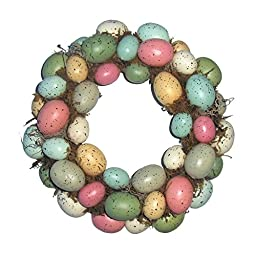 Easter Egg Wreath Front Door Hanging Wall Window Spring Decoration Home Office Holiday Festive Decor