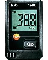 Testo 0572 6560 174H Mini-enregistreur de température et d'humidité 2 canaux avec fixation murale piles (2 x CR 2032 lithium) et protocole d'étalonnage