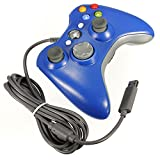 Blue Wired USB Game Pad Controller For Xbox360 Xbox 360 Slim PC Windows 7