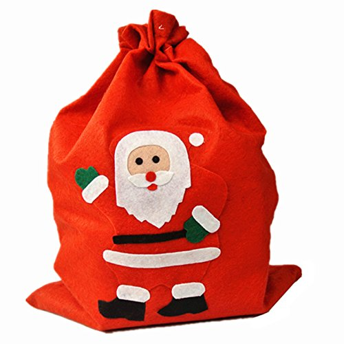 UNIQOOO Red Xmas Christmas Santa Claus Holiday Present Gift Bags