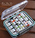 Flextec Assorted Montana Nymph Flies x 20 pieces in fly box Rrp £24.99