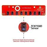 SunFounder IIC I2C Line Follower Module 8 Channel Infrared IR Detection Tracking Sensor for Arduino Smart Car Robot Robotics MCU STM8S105C4 TCRT5000