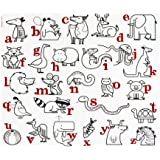modern-twist Kids Mark-Mat Silicone Coloring Placemat, Alphabet Animals