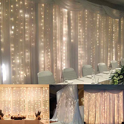 FEFEa Crystal LED Lights 9.8ft*9.8ft 304 LEDs String Lights Decorating Holiday,Party, Wedding ...