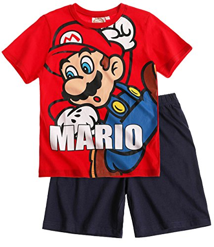 Mario Bros -  Pigiama due pezzi  - ragazzo Rosso rosso
