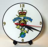 BRITISH ARMY ROYAL ELECTRICAL AND MECHANICAL ENGINEERS REME REGIMENTAL INSIGNIA BADGE CREST * A CD/DVD (12 cm diameter) SIZED NOVELTY CD QUARTZ WALL CLOCK WITH FREE BATTERY AND DESK STAND * CAN BE PERSONALISED