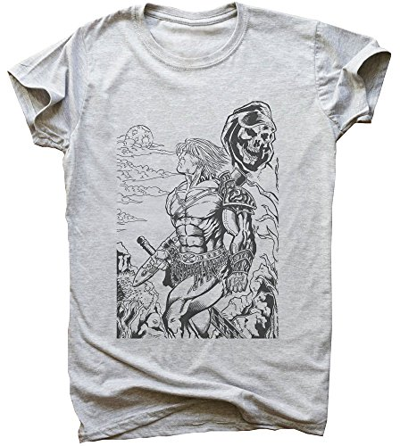 He-Man Standing Against All Evil Men's T-Shirt Medium