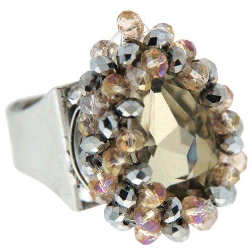 Sweet Deluxe Damen-Ring Agata silber/champagner 00923