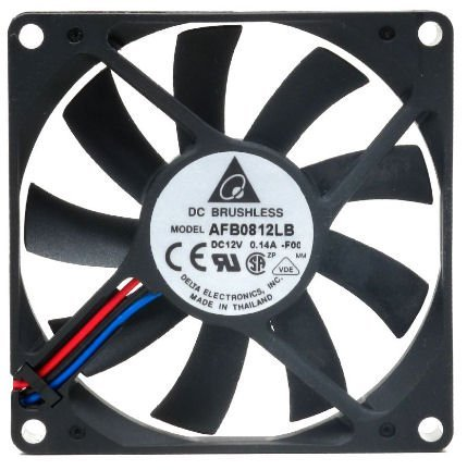 Delta 23-8015-02 80 x 80 x 15 mm. Ball Bearing Cooling Fan