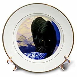 Wild animals - Black Panther - 8 inch Porcelain Plate (cp_739_1)