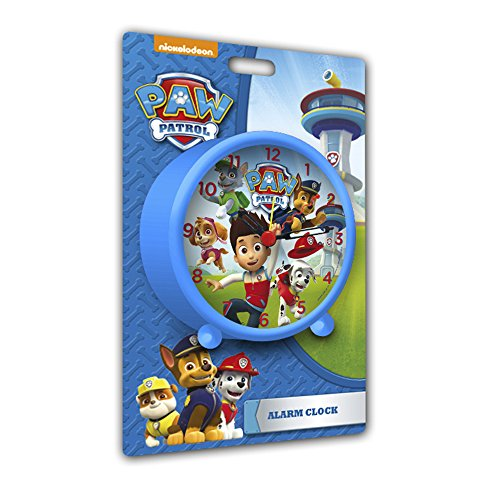 Paw Patrol - Reloj despertador, color azul (Kids PW-16022)