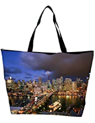 Snoogg Abstract Buildings Designer Waterproof Bag Made Of High Strength Nylon - B01I1KLF04