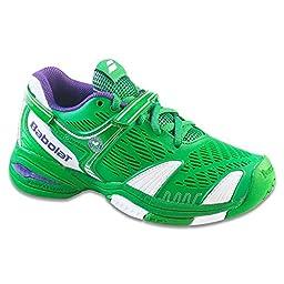 Babolat Propulse 4 All Court Junior Tennis shoes different colors, Color:green;EU Shoe Size:40