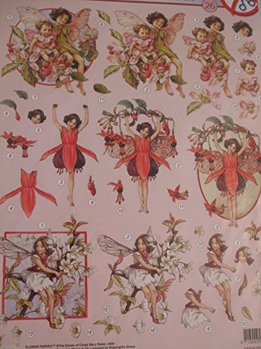 A4 Die-cut Decoupage Sheet - Stapeasyff26 83526 By Flower Fairies