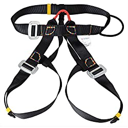 Generic Outdoor Rappelling Climbing Harness Seat Safety Sitting Bust Belt Black