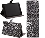 ITALKonline PADWEAR PU LEATHER LUXFOLIO BOOK Executive BLACK LEOPARD PRINT Wallet Case/Cover/Stand With SMART TILT Horizontal Viewing STAND For Apple iPad Mini Tablet (Wi-Fi and Wi-Fi + 3G) 16GB 32GB 64GB