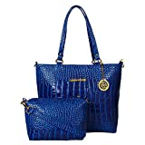 Meow Wings Women's Shine Blue Handbag