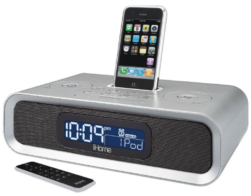 ihome ip97 dual alarm clock radio for ipod and iphone. Black Bedroom Furniture Sets. Home Design Ideas