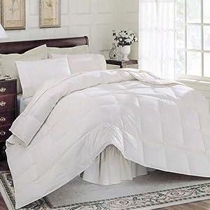 Full/Queen Splendour Box Stitch 100% White Goose Down Comforter 575 Fill Power