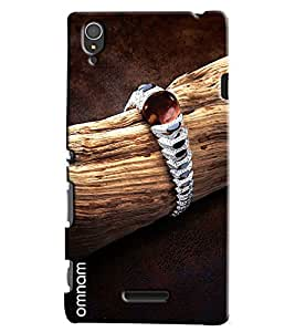 Omnam Diamond Bracelet On Woods Printed Designer Back Cover Case For Sony Xperia T3