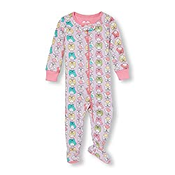 The Children's Place Girls' Sleepsuit (2065733_Simplywht_3 - 4 Years)