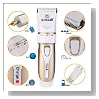 Oneisall Rechargeable Cordless Professional Home Pet Dogs And Cats Grooming Trimming Clipper Kit
