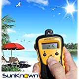 Sunlight Meter for Measuring Harmful Ultraviolet Light Radiations - Portable UV Intensity Meter & UV Sun Light Strength Tester - Digital UV Index Sensor & Handheld UV Detector - by SunKnown (Color: Yellow)