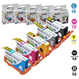 LD �Remanufactured Replacement Inkjet Cartridges for Hewlett Packard (HP) 564XL: 1 Black CN684WN, Photo Black (5 Pack) CB322WN, Cyan CB323WN, Magenta CB324WN, Yellow CB325WN- Shows Accurate Ink Levels ~ LD Products