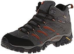 Merrell Men\'s Moab Mid Gore-Tex Hiking Boot, Beluga, 8 M US