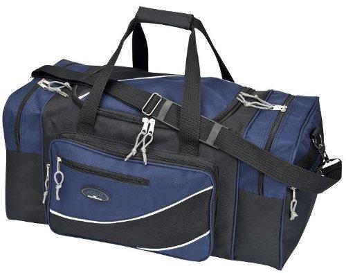 XL Reisetasche Sporttasche schwarz-blau ca. 60x32x30