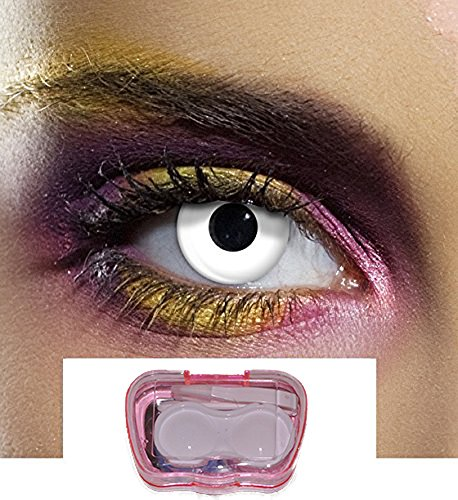 Posch White Soaking Case Recommended for Use with Coloured Contact Lenses