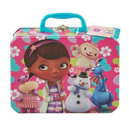 Disney Doc McStuffins Deluxe Metal Tin Carrying Case - Lunch Box, Storage - 1