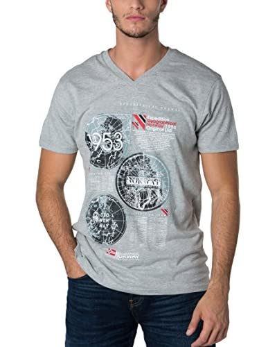 Geographical Norway Camiseta Manga Corta Snht Gris L