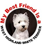 2 West Highland White Terrier / Westie Car Stickers My Best Friend