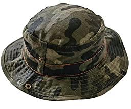 Happy Cherry Baby Summer Camouflage Bucket Hats With Chin Straps Side Button Size 51cm
