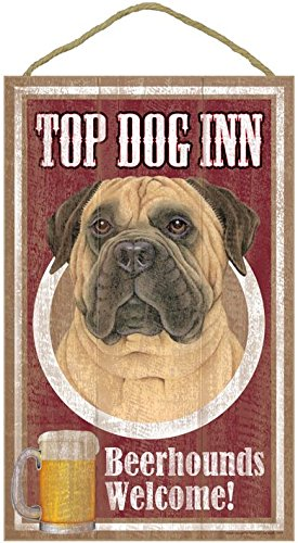 bull-mastiff-fathers-day-gift-10-x-15-wood-plaque-top-dog-inn-beer-houndswelcome-sign-black-brown