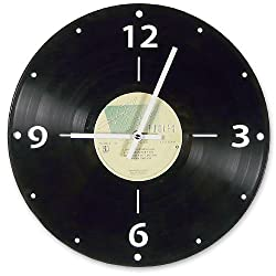 Vintage Vinyl LP Record Wall Clock, Rock Genre
