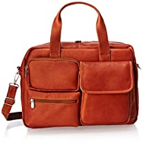 Piel Leather Multi-Pocket Carry-On, Saddle, One Size
